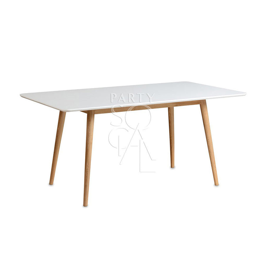 WHITE RECTANGULAR TABLE