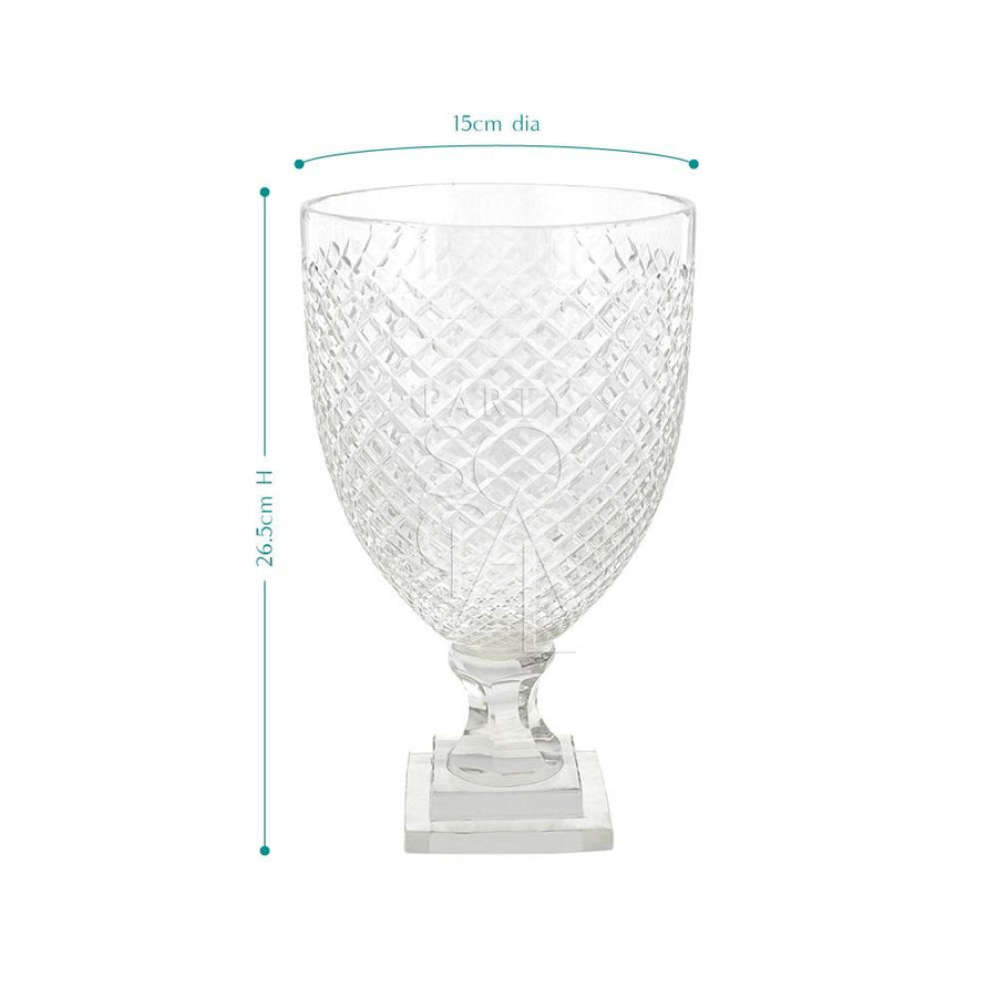 CRYSTAL CUT VASE - MEDIUM
