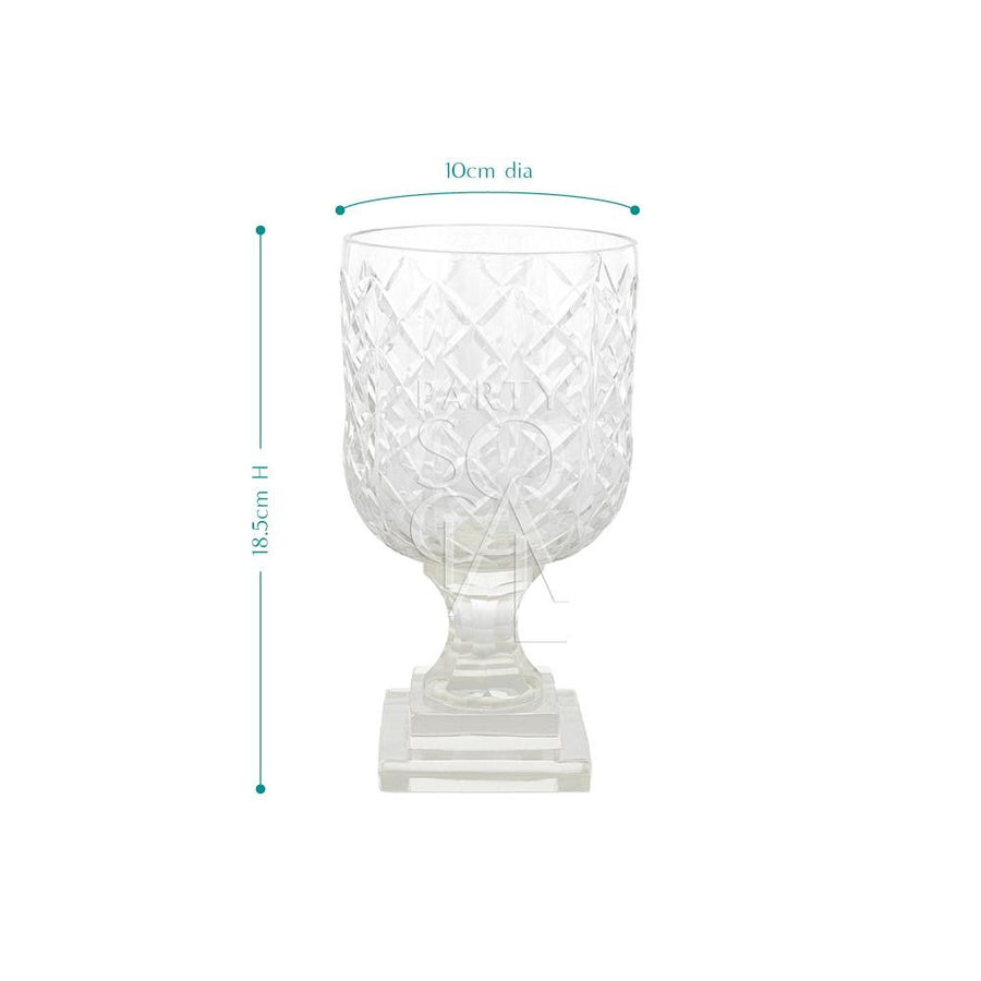 CRYSTAL CUT VASE - SMALL