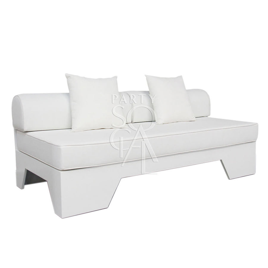 WHITE 3 SEATER LOUNGE
