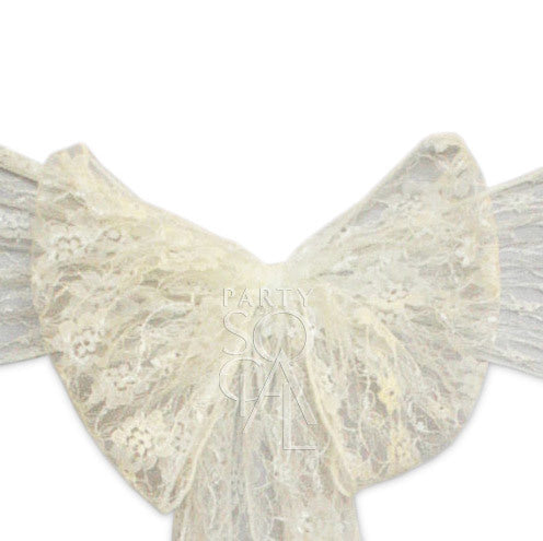 CHAIR SASH IVORY LACE