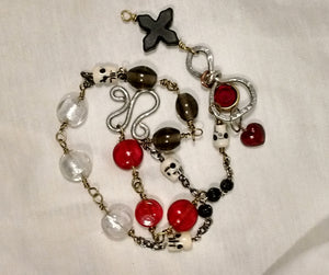 New jewelry: Santisima Muerte rosary chaplet necklace