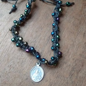 Virgin Mary Beaded Knotwork Bracelet