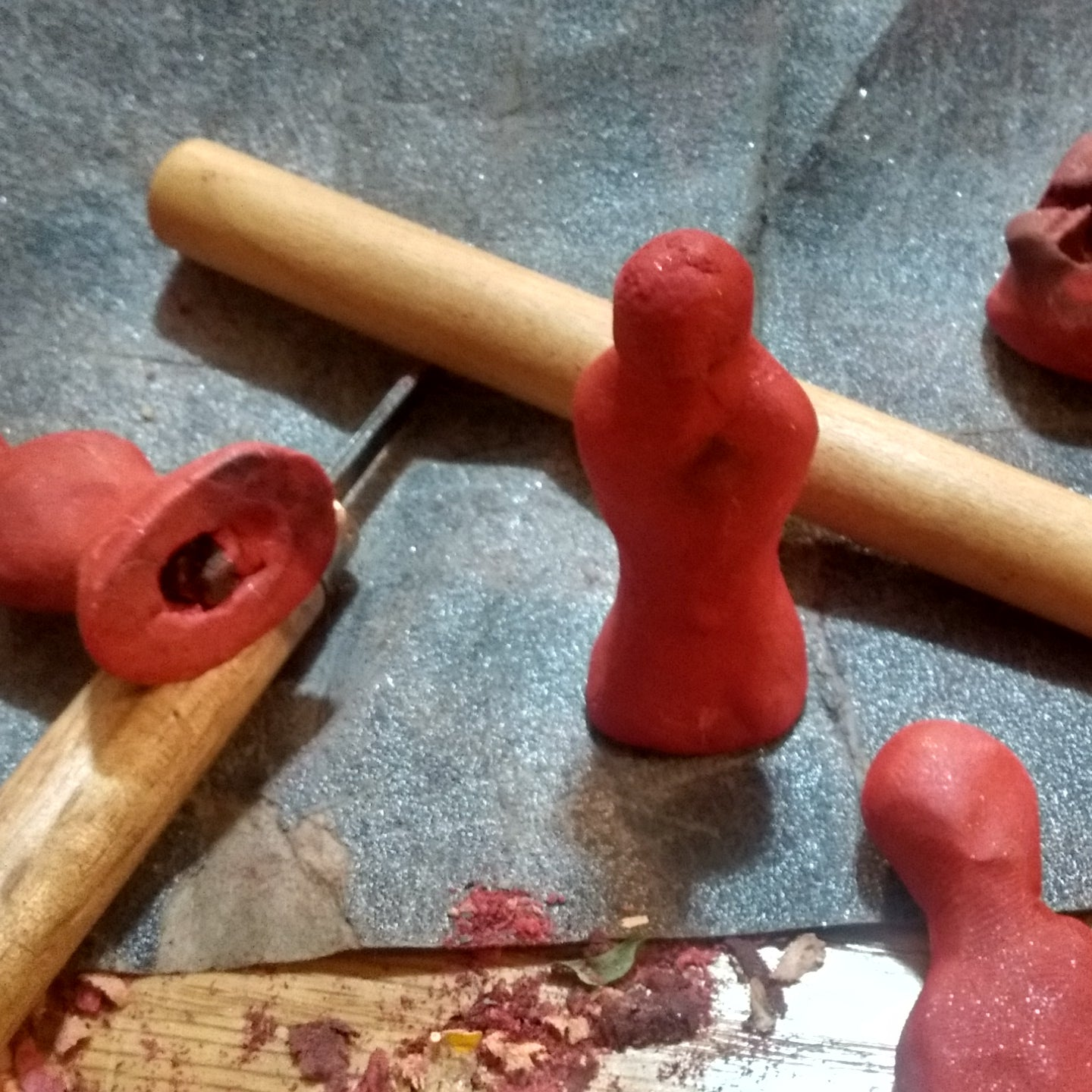Clay Dolls for Altar Work, Custom-Made