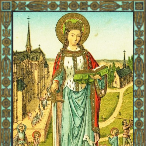 St. Dymphna Mini Holy Card, Wallet Sized