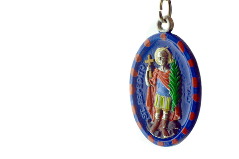 St. Expedite Hand-Painted Holy Medal