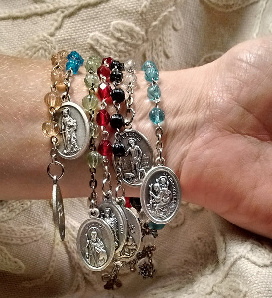Hoodoo Rootworker's Seven-Way Rosary Chaplet, Blessed at Seven Altars
