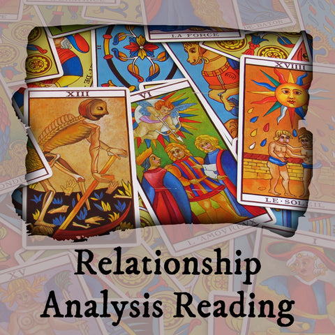 Relationship Analysis Tarot Reading, 7-Card Layout, Email
