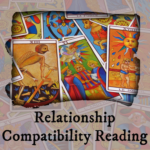 Relationship Compatibility Tarot Reading, 7-Card Layout, Email