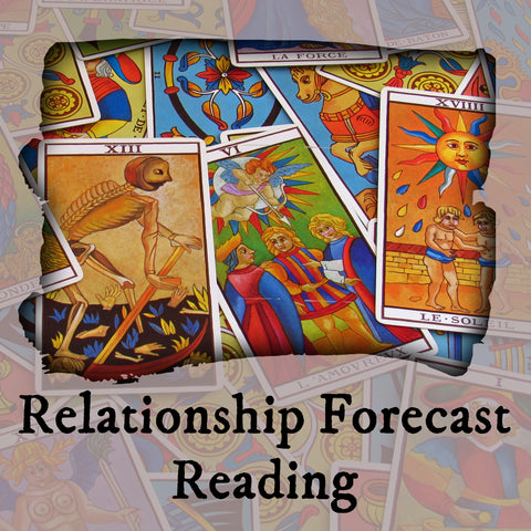 Relationship Forecast Tarot Reading, 9-Card Layout, Email