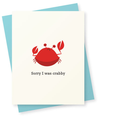 Sorry I was crabby