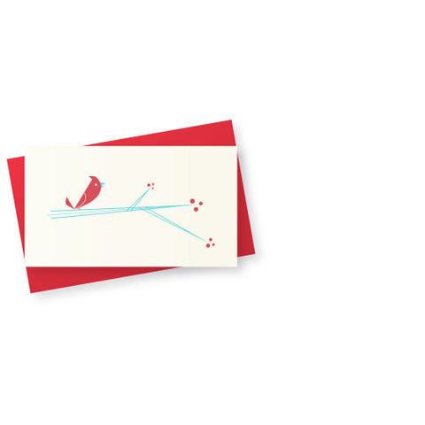 Bird on Branch Mini Gift Card