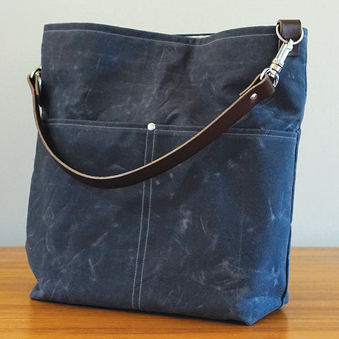 Charcoal Gray Slouchy Tote
