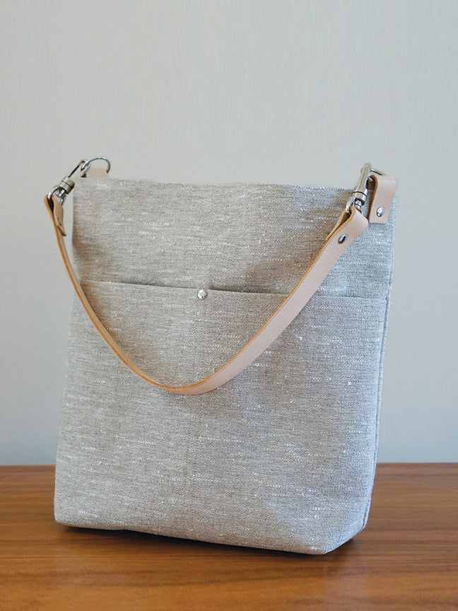 Rustic Linen Slouchy Tote