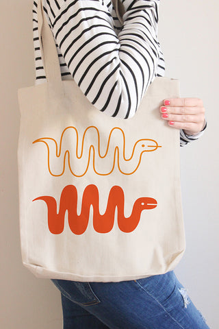 Snakes Canvas Tote Bag