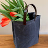 "Dark Gray Waxed Canvas ""Paper Bag"""