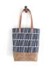 "Navy ""Tiles"" Tote"