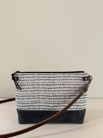 Crossbody Bag with Zipper - Dots