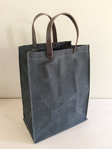 "Gray Waxed Canvas ""Paper Bag"""