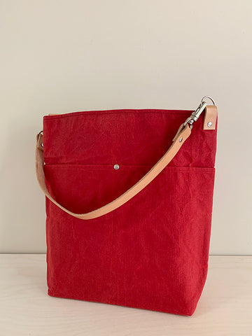 Red Slouchy Tote