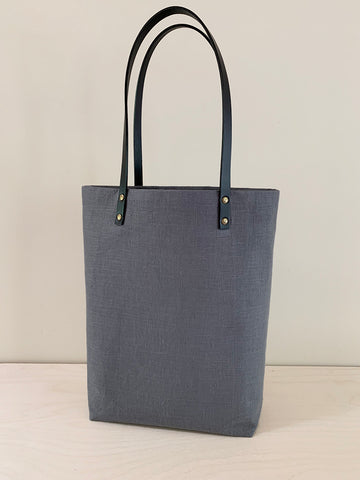 Simple Linen Tote – Gray