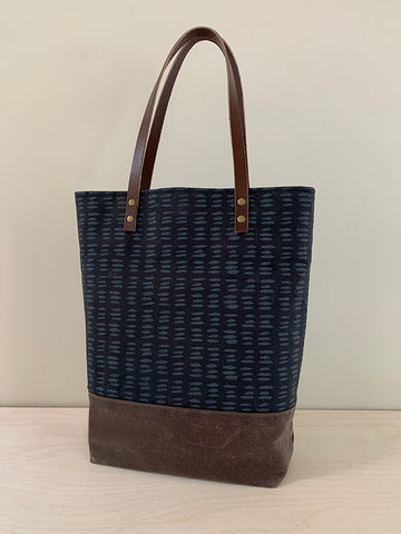 "Cotton Canvas ""Dashes"" Tote"
