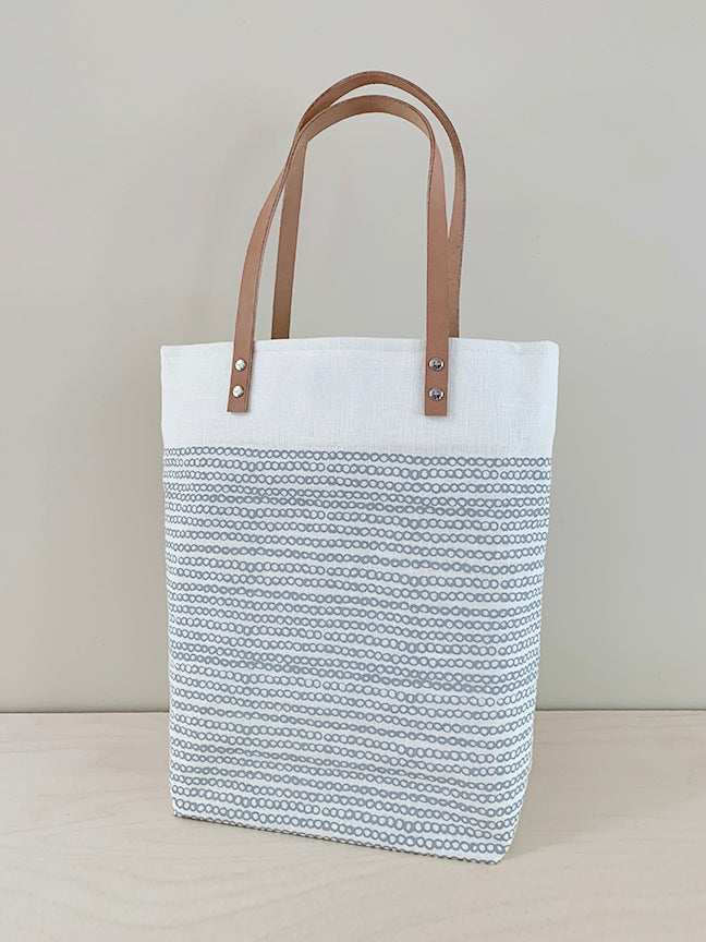 "Light Gray ""Circles"" Tote"