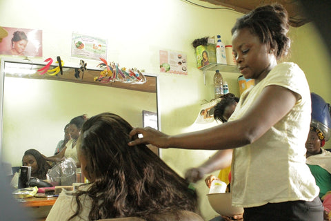 Photo of Hairdressing and Client