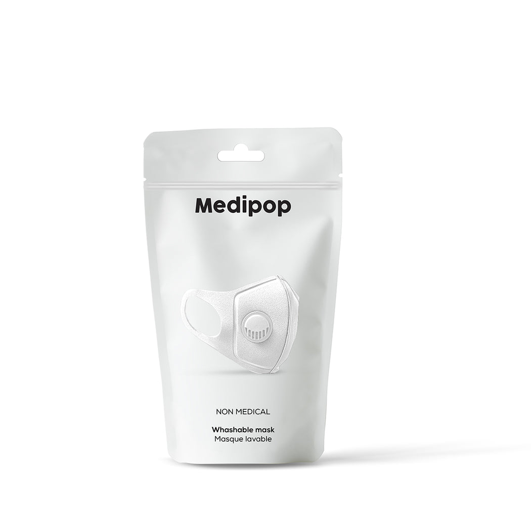 MEDIPOP Washable V Mask - White - 1 unit