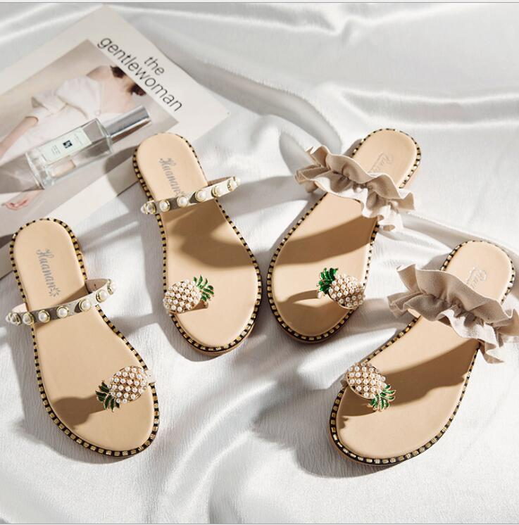 Toe Ring Pineapple Sandals - The Changing World Store