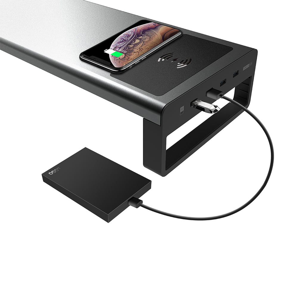 Wireless Charging Monitor Stand Raiser