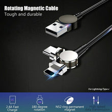 Load image into Gallery viewer, 180 Degree Usb Magnetic Charging Cable