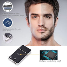 Load image into Gallery viewer, 2 in 1 Portable Mini Men's Electric Razor