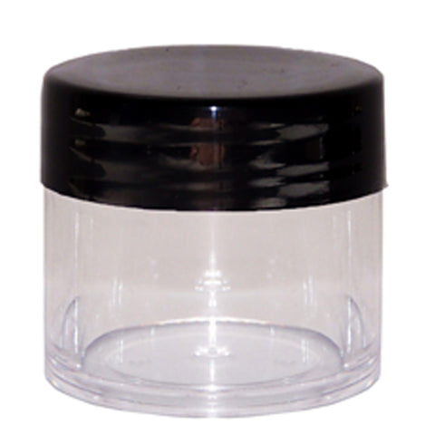 10ML Polystyrene Containers – Black Lid