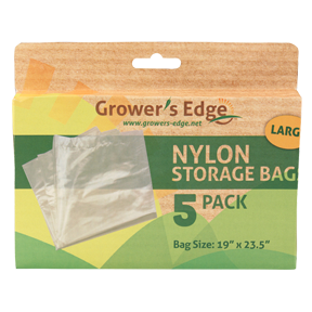 Grower's Edge Nylon Storage Bag - 1 ml 19 in x 23.5 in - 5/Pack (12/Cs)