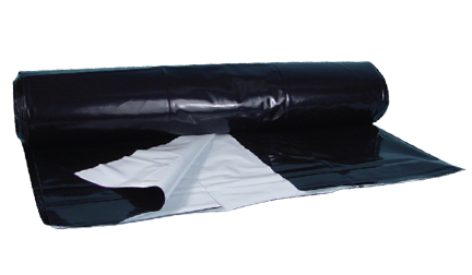 Black/White Poly Sheeting - 5 mil 24 ft x 100 ft