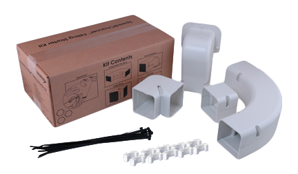 SpeediChannel Fit Kit 4 in (with elbow, coupler, penetration, inside turn fittings)