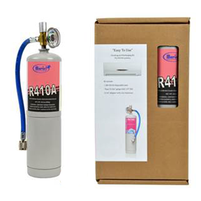 R410A Refrigerant Refill Kit (Includes Canister, Hose for 5/16 in Connection and Gauge)