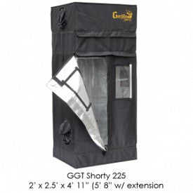 "SHORTY Gorilla Grow Tent, 2' x 2.5', w/9"" Extension Kit"