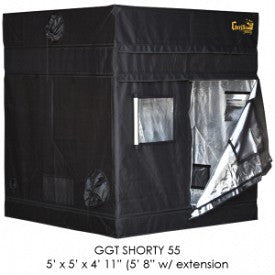 "SHORTY Gorilla Grow Tent, 5' x 5', w/9"" Extension Kit"