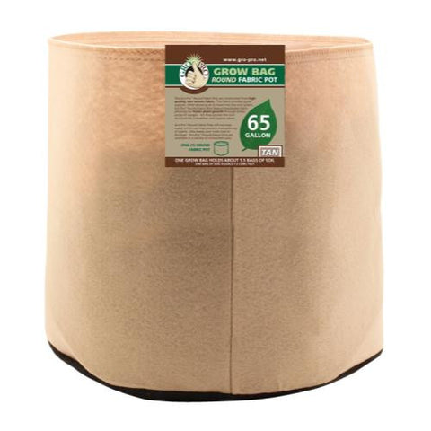 Gro Pro Premium 65 Gallon Round Fabric Pot-Tan