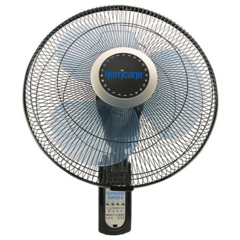 "Hurricane Super 8 16"" Oscillating Wall Mount Fan"