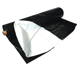 Black  White Poly, 100' x 10', 5.5 mil