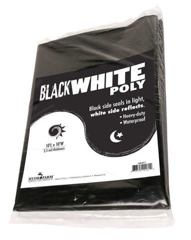 Black White Poly 10'x10', 5.5 mil