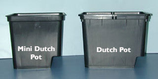 "Mini Dutch Pot w/2 elbows Black, 9""H x 9.5""L x 9.5""W"