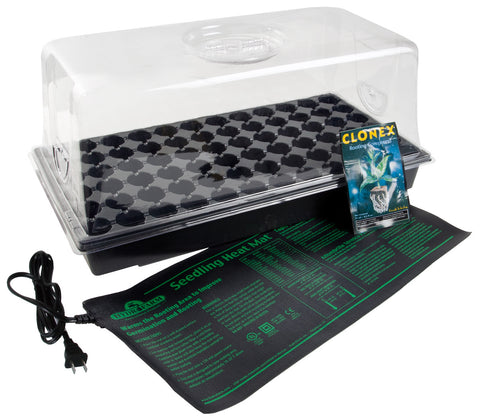 "Hot House w/ Heat Mat, tray, 72 cell pack, 7"" dome"