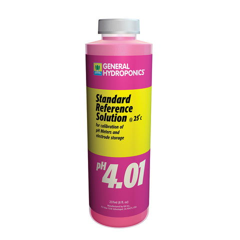 General Hydroponics pH Calibration 4.01 Solution, 8 oz