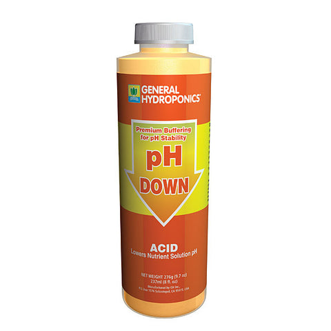 General Hydroponics pH Down, 8 oz