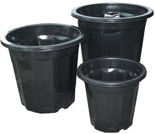 Black Plastic Pot, 3 qt, pack of 75
