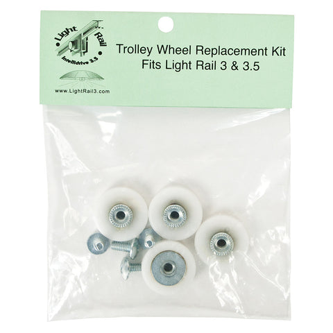 Light Rail 3.5 / 4 Replacement Trolley Wheel Kit